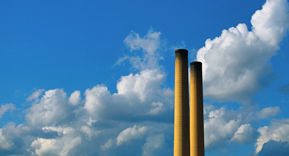 smoke stacks pollution photograph